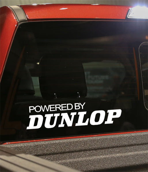powered by dunlop golf decal - North 49 Decals
