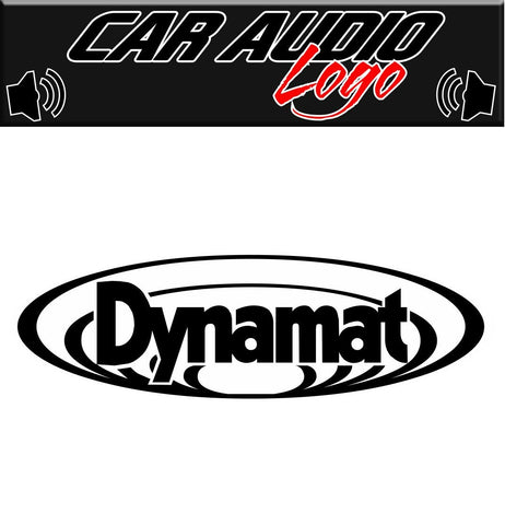 Dynamat decal, sticker, audio decal