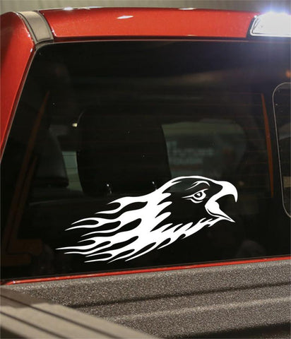eagle 2 flaming animal decal - North 49 Decals
