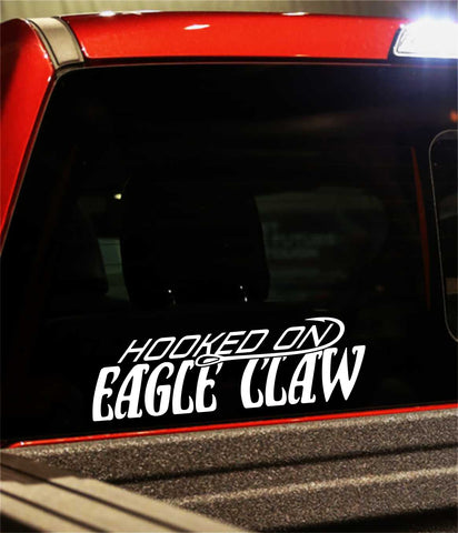 eagle claw decal, car decal, fishing sticker