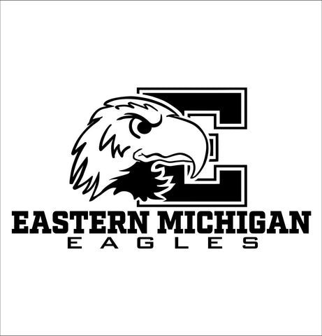Eastern Michigan Eagles decal, car decal sticker, college football