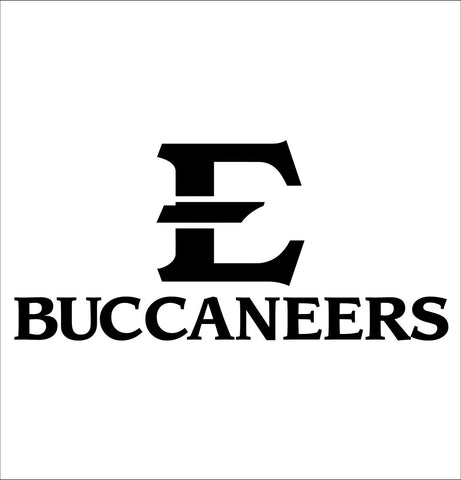 Eastern Tennessee Buccaneers decal, car decal sticker, college football