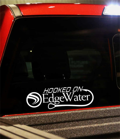 edgewater boats decal, car decal, fishing sticker
