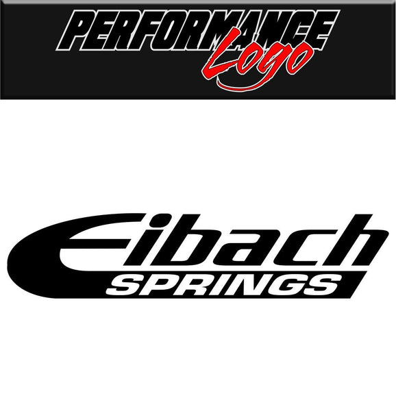 Eibach Springs decal performance decal sticker