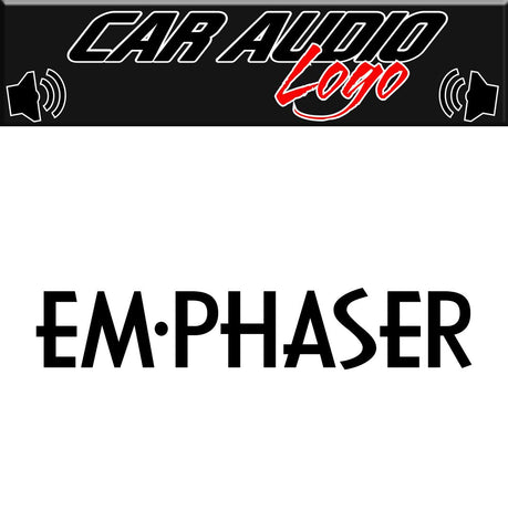 Emphaser decal, sticker, audio decal
