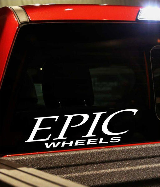 epic wheels performance logo decal - North 49 Decals