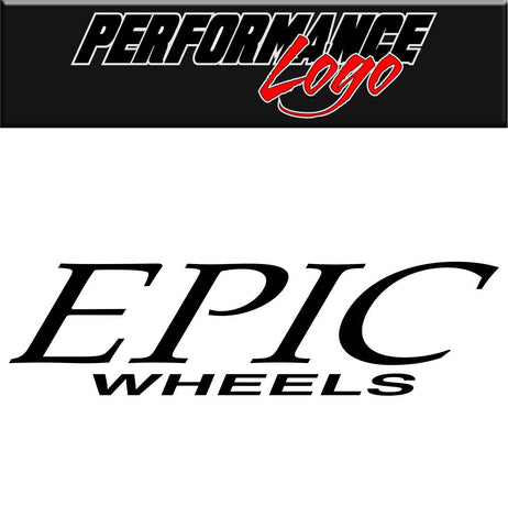 Epic Wheels decal performance decal sticker