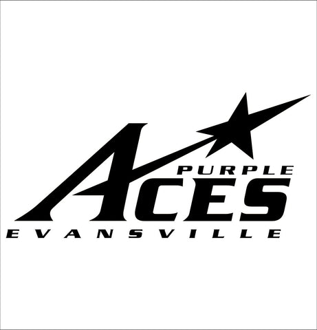 Evansville Purple Aces decal, car decal sticker, college football