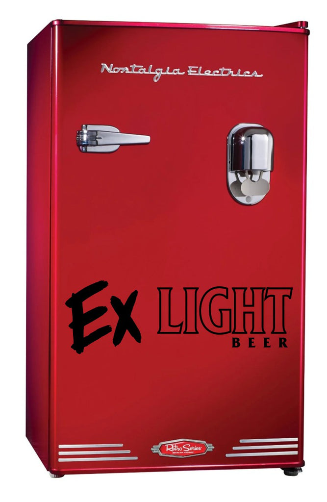 Ex Light decal, beer decal, car decal sticker