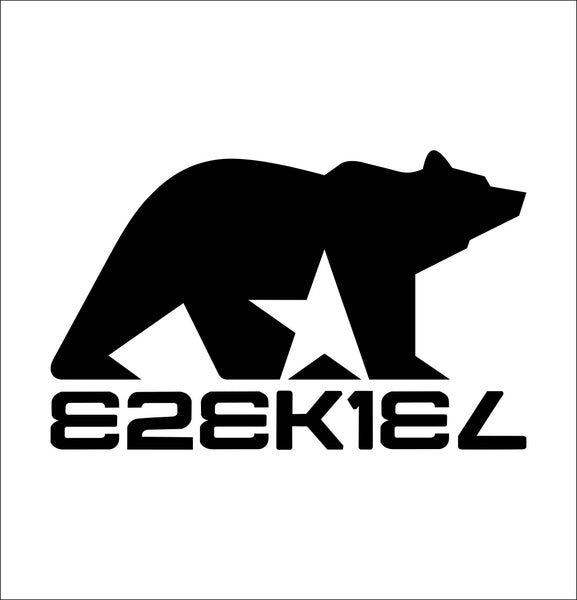 Ezekiel Clothing decal, skateboarding decal, car decal sticker