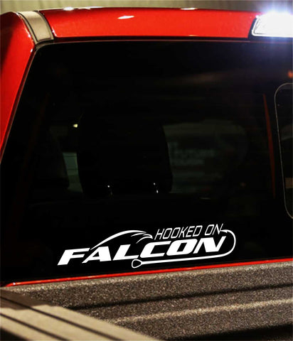 falcon rods decal, car decal, fishing sticker