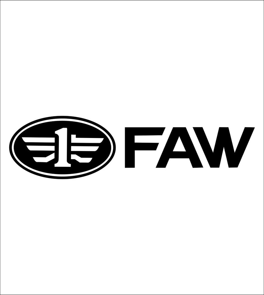 FAW car decal sticker