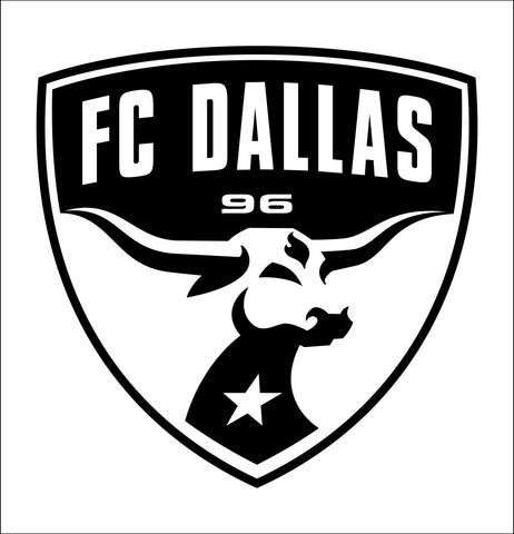 FC Dallas decal, car decal sticker