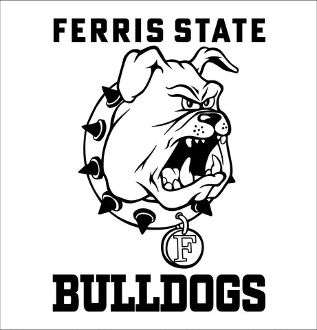 Ferris State Bulldogs decal, car decal sticker, college football
