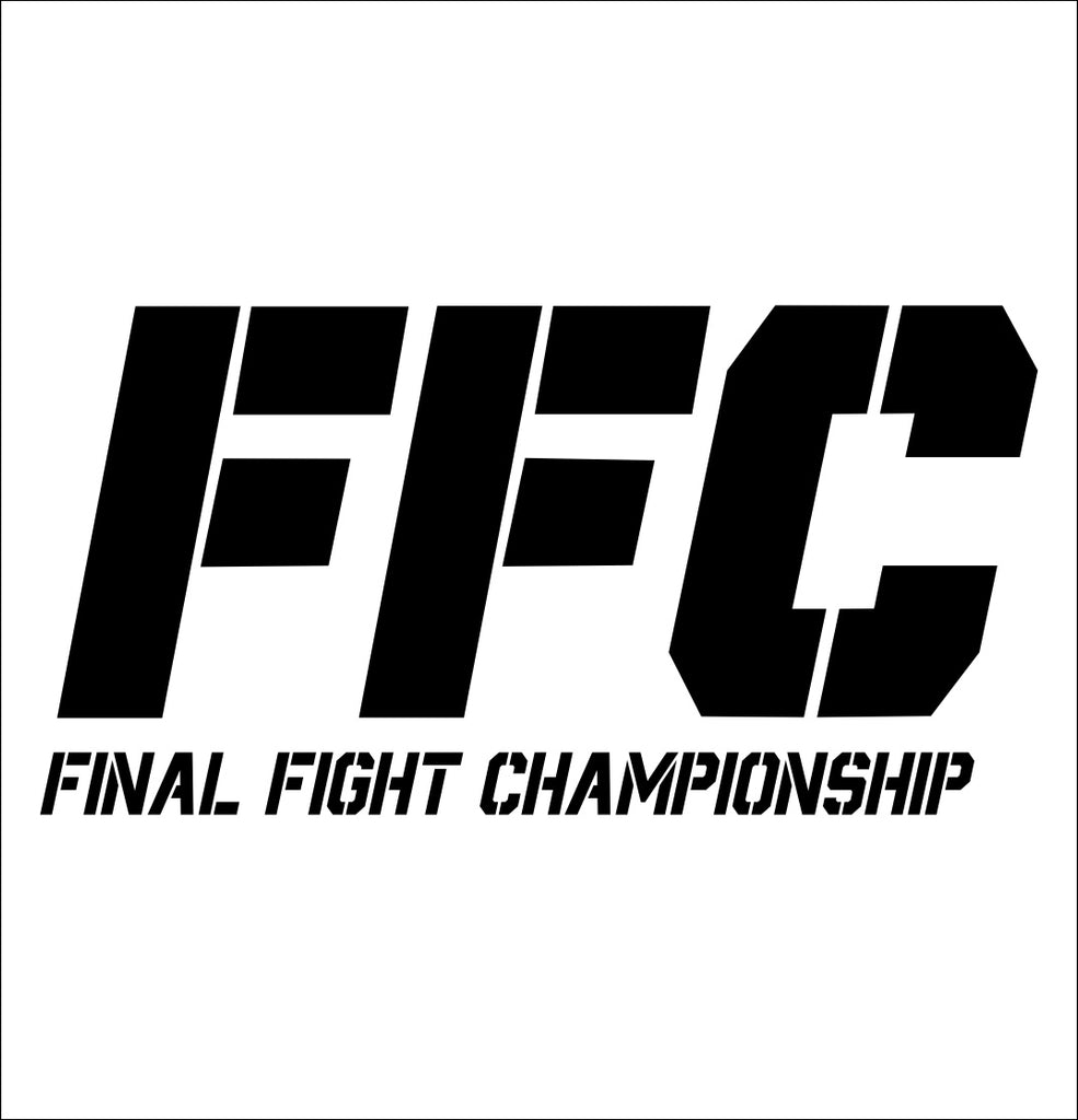 FFC decal, mma boxing decal, car decal sticker