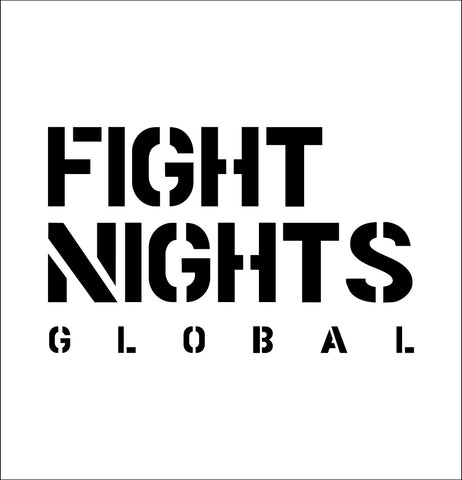 Fight Nights Global decal, mma boxing decal, car decal sticker