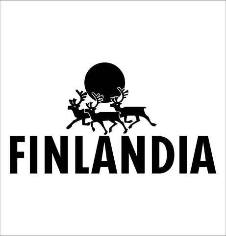 Finlandia decal, vodka decal, car decal, sticker