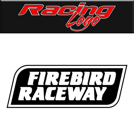 Firebird Raceway decal, racing decal sticker