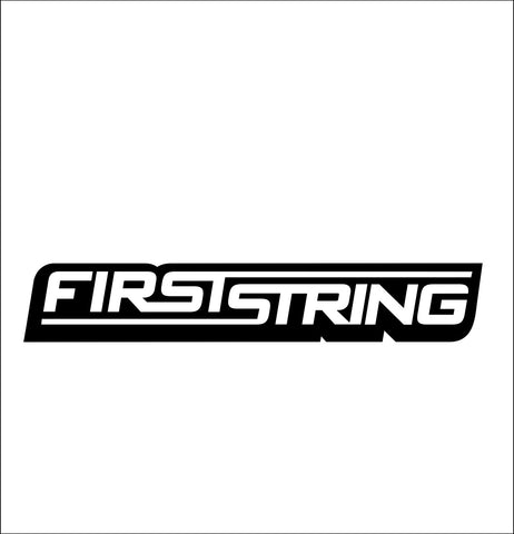 firststring bowstrings decal, car decal sticker