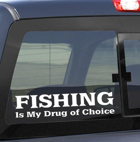 fishing decals, car decal sticker