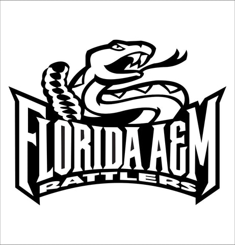 Florida A&M Rattlers decal, car decal sticker, college football