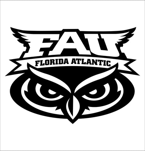Florida Atlantic Owls decal, car decal sticker, college football