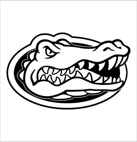Florida Gators decal, car decal sticker, college football
