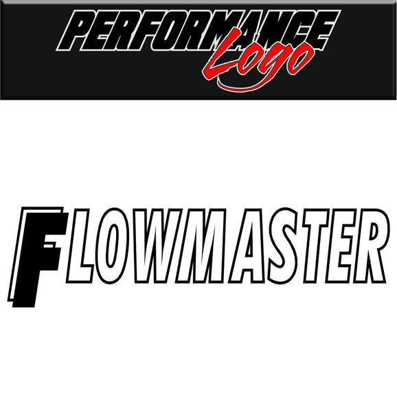 Flowmaster decal performance decal sticker