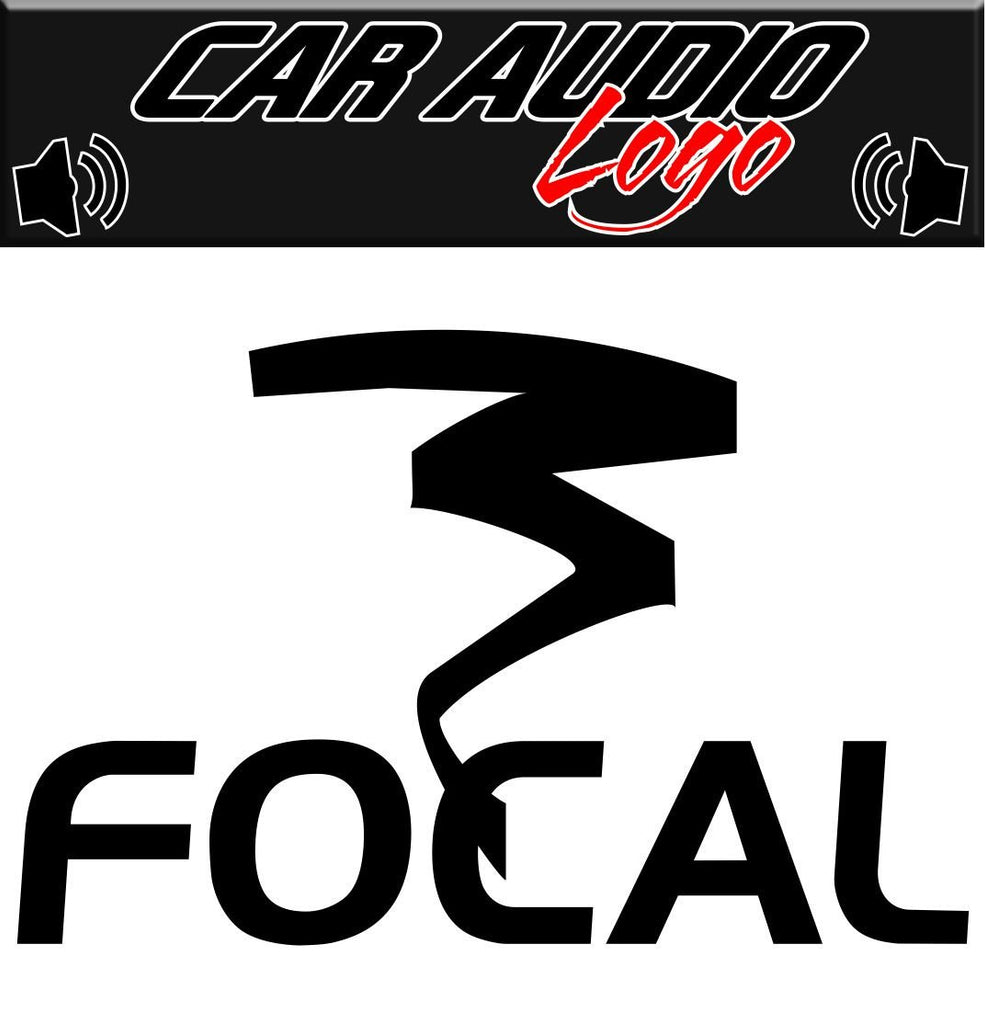 Focal decal, sticker, audio decal