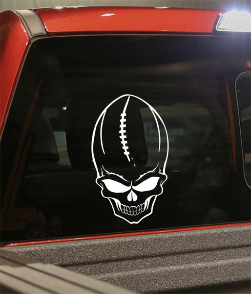 football sport skull decal - North 49 Decals