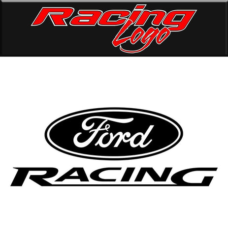 Ford Racing decal, racing sticker
