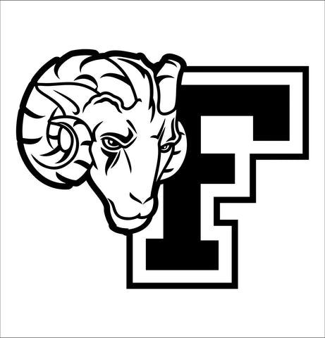 Fordham Rams decal, car decal sticker, college football
