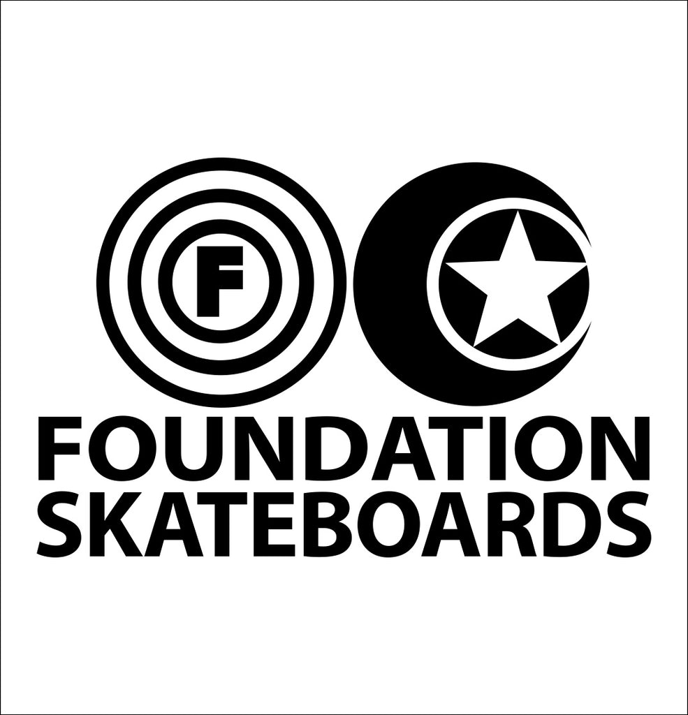 Foundation Skateboards decal, skateboarding decal, car decal sticker
