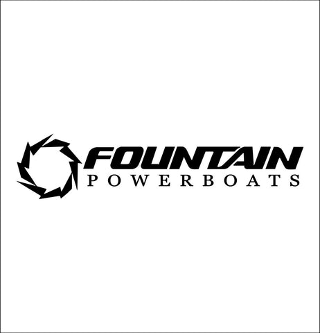 Fountain Boats decal, sticker, hunting fishing decal