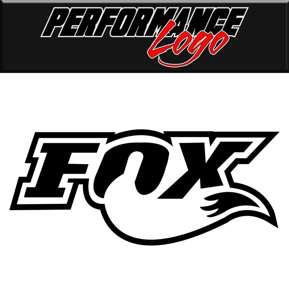 FOX decal performance decal sticker