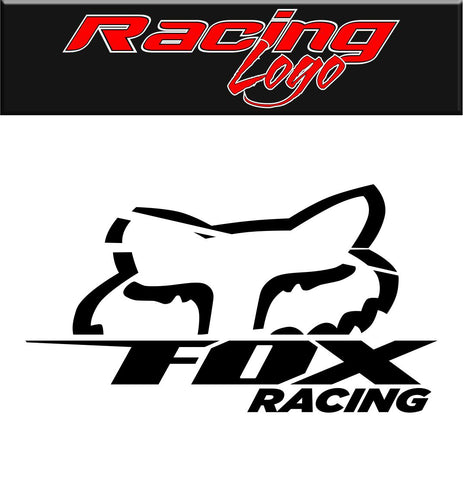 Fox Racing decal, racing sticker