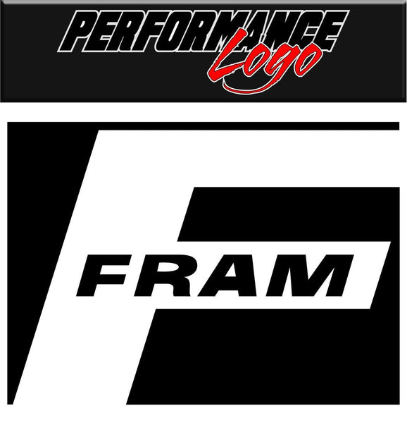 Fram decal performance decal sticker