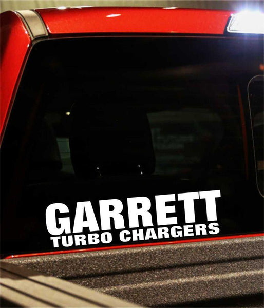 garrett turbo chargers performance logo decal - North 49 Decals