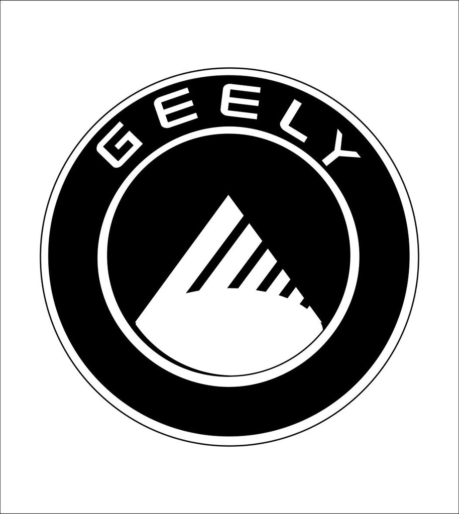 Geely decal, sticker, car decal