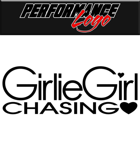 Girlie Girl decal performance decal sticker