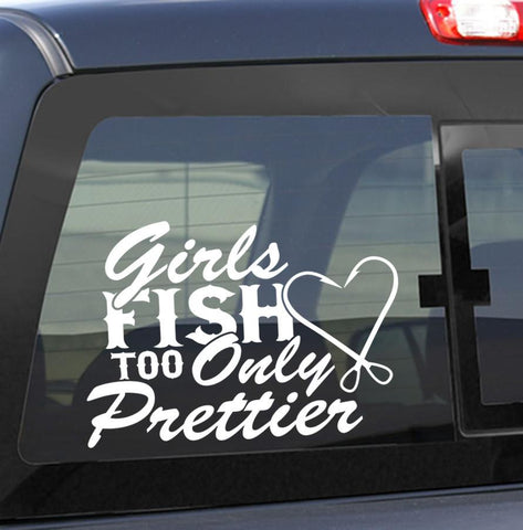 Girls fish too..Only prettier fishing decal - North 49 Decals