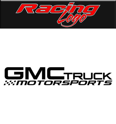 GMC Truck Motorsports Racing decal, racing sticker