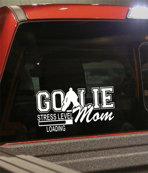 goalie mom hockey decal - North 49 Decals