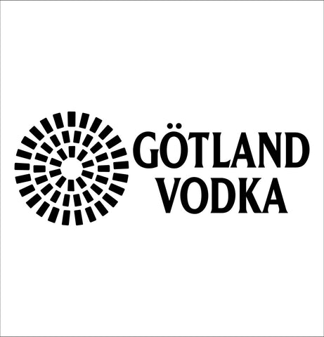 Gotland decal, vodka decal, car decal, sticker