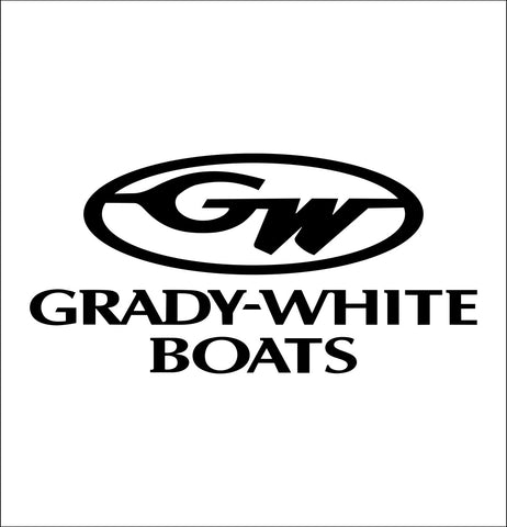 grady white boats decal, car decal, fishing hunting sticker