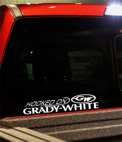 grady white boats decal, car decal, fishing sticker