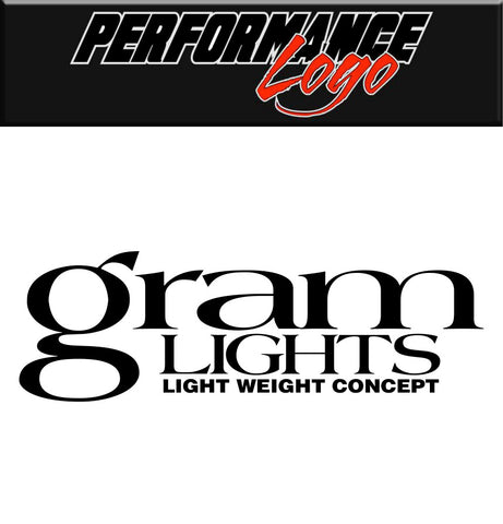 Gram Lights decal, performance car decal sticker