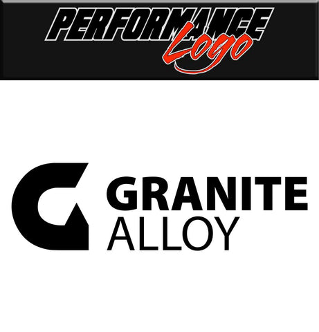 Granite Alloy decal, performance car decal sticker