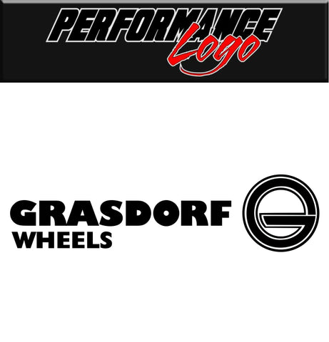 Grasdorf Wheels decal performance decal sticker