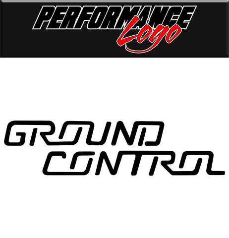 Ground Control decal performance decal sticker